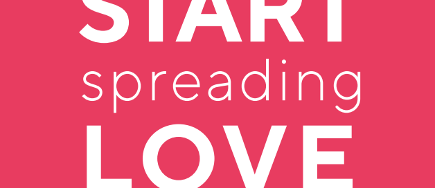 start spreading love pink logo