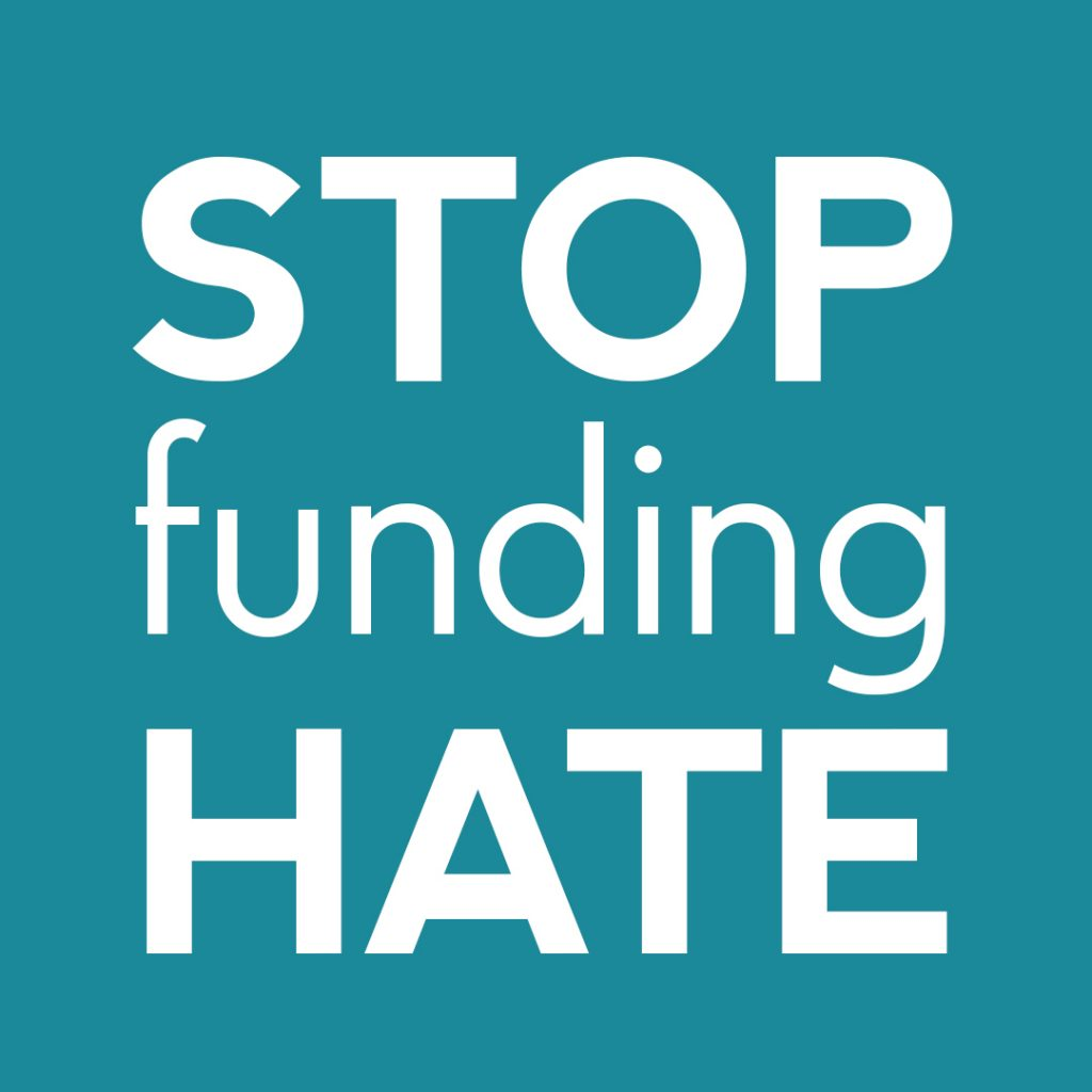 Stop Funding hate logo