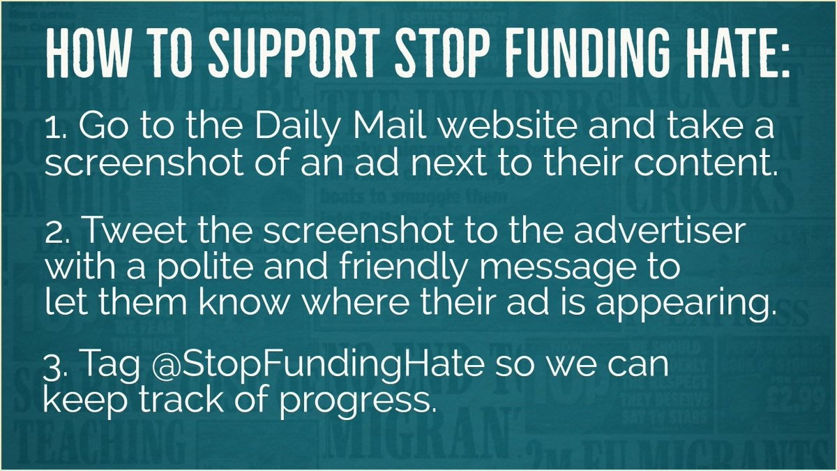how to support stop funding hate
