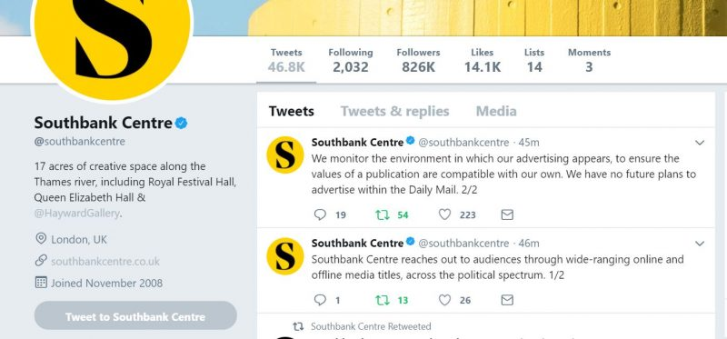 Southbank Centre tweets